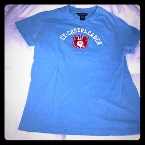 Cute and comfy blue Abercrombie ex cheerleader tee